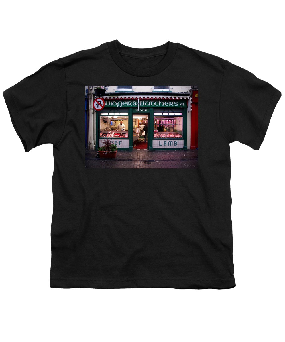 Butcher Youth T-Shirt featuring the photograph Beef Lamb by Tim Nyberg