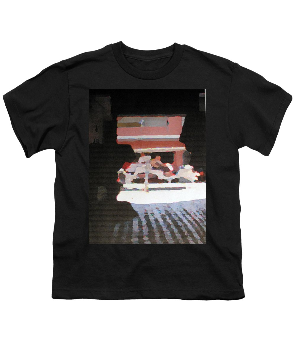 Bermuda Youth T-Shirt featuring the photograph Bermuda Carriage Impressions by Ian MacDonald