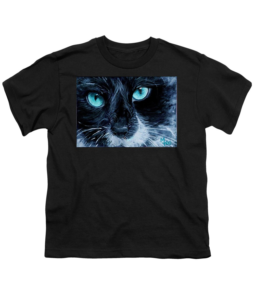 Charity Youth T-Shirt featuring the painting Big Blue by Mary-Lee Sanders