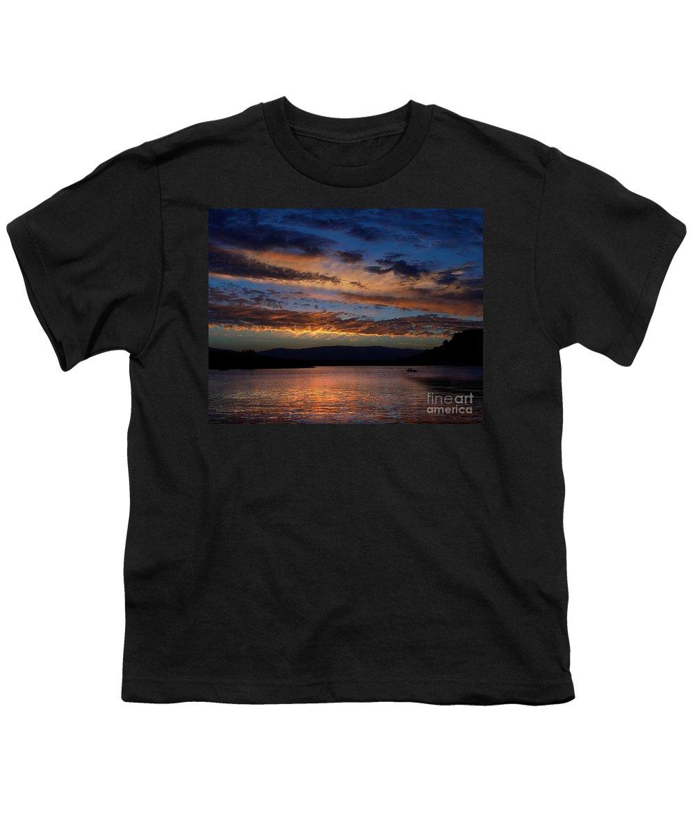 Black Butte Sunset Youth T-Shirt featuring the photograph Black Butte Sunset by Peter Piatt