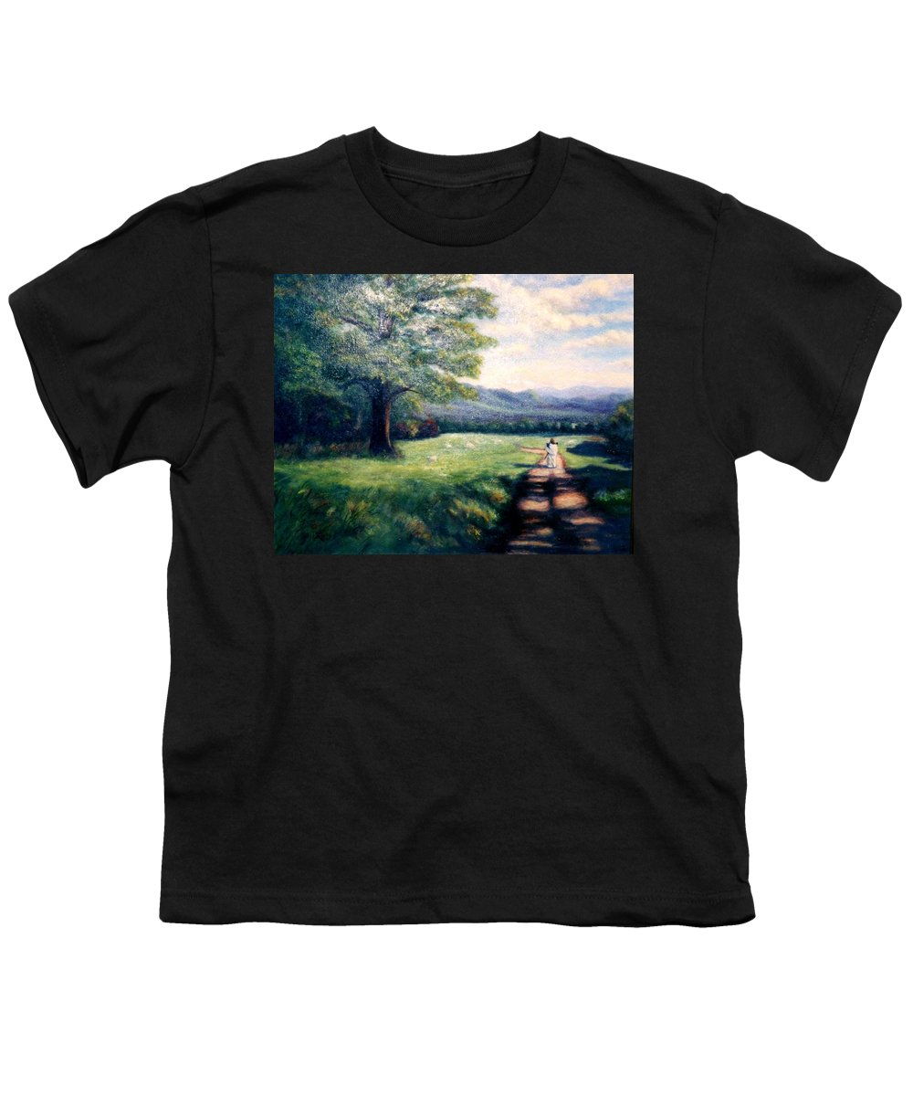 Christian Youth T-Shirt featuring the painting Black Sheep by Gail Kirtz