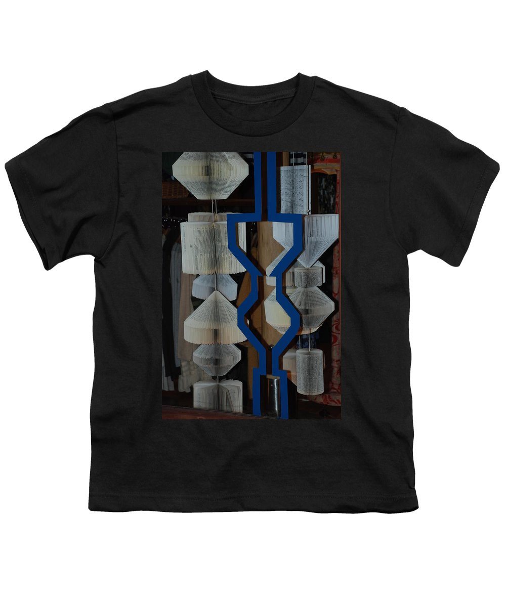 Window Youth T-Shirt featuring the photograph Blue And White by Rob Hans