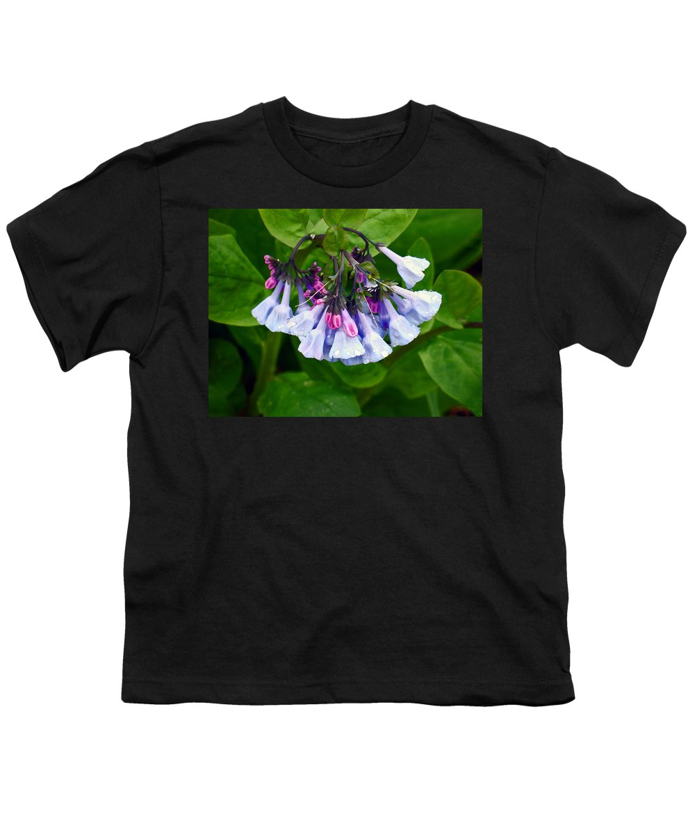 Native Landscape Youth T-Shirt featuring the photograph Blue Bells by Steve Karol