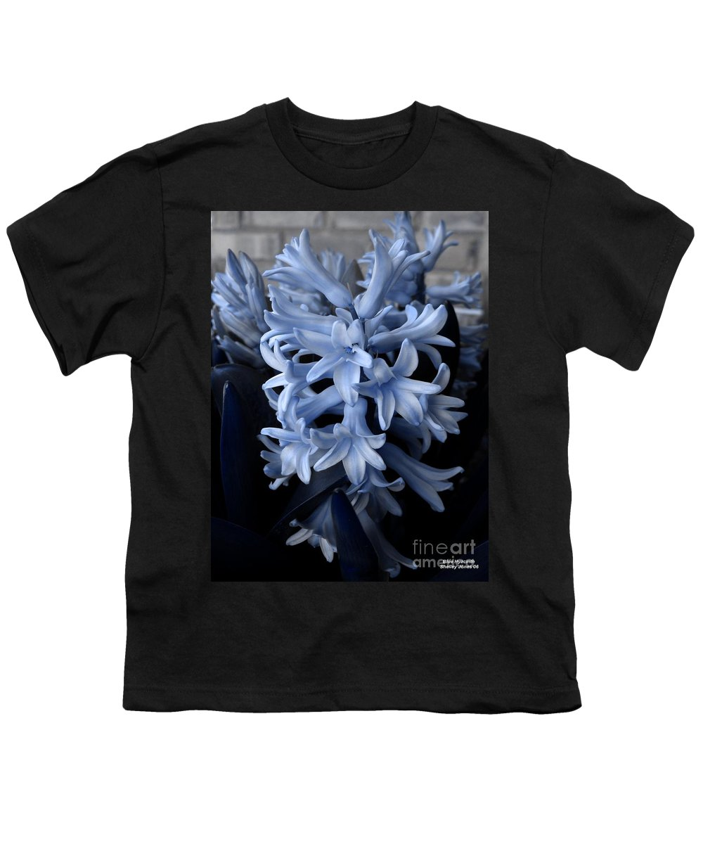 Blue Youth T-Shirt featuring the photograph Blue Hyacinth by Shelley Jones