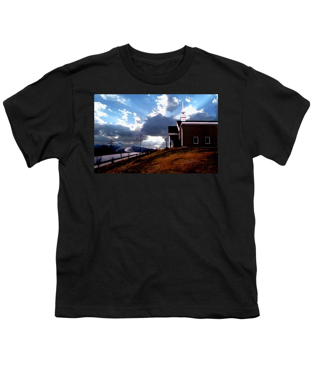 Landscape Youth T-Shirt featuring the photograph Blue Springs Landscape by Steve Karol