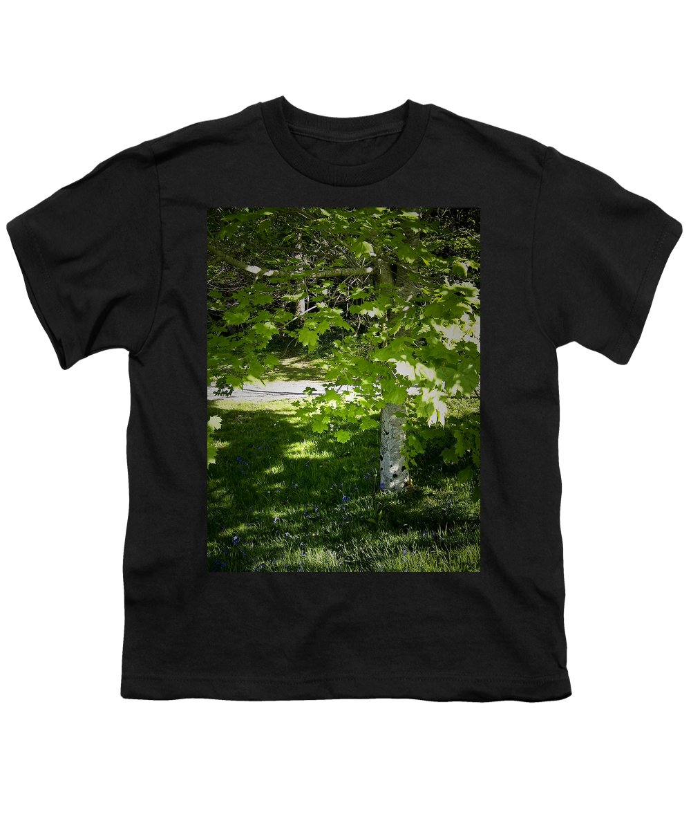 Irish Youth T-Shirt featuring the photograph Bluebells In Killarney National Park Ireland by Teresa Mucha