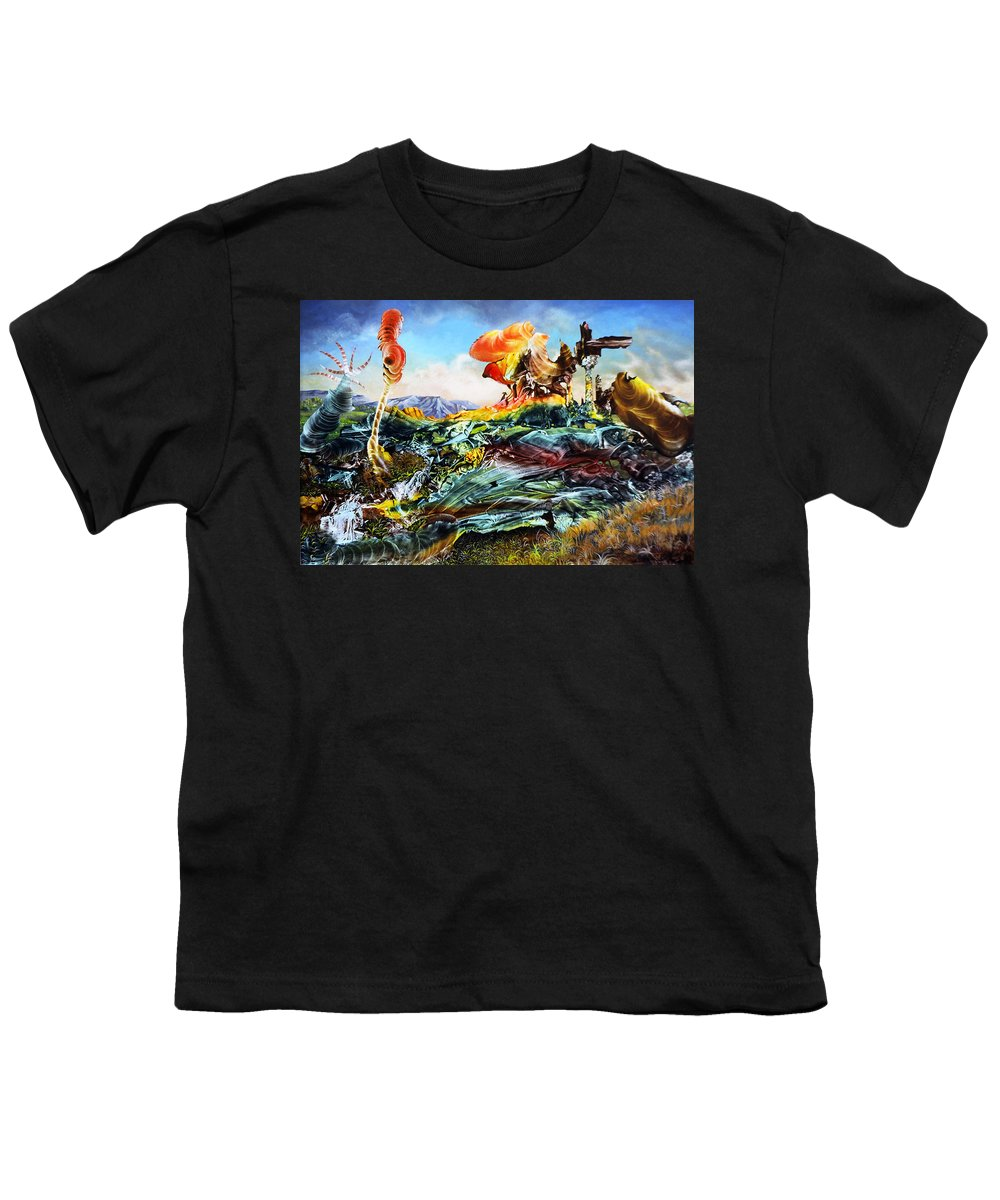 Landscape Youth T-Shirt featuring the painting Bogomil Landscape by Otto Rapp