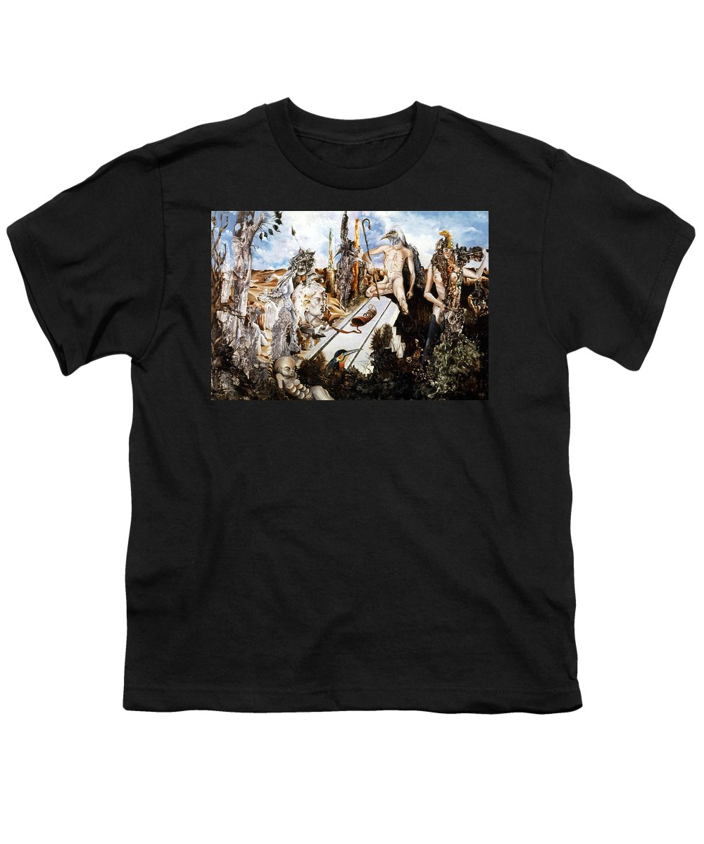 Surrealism Youth T-Shirt featuring the painting Bogomils Court by Otto Rapp