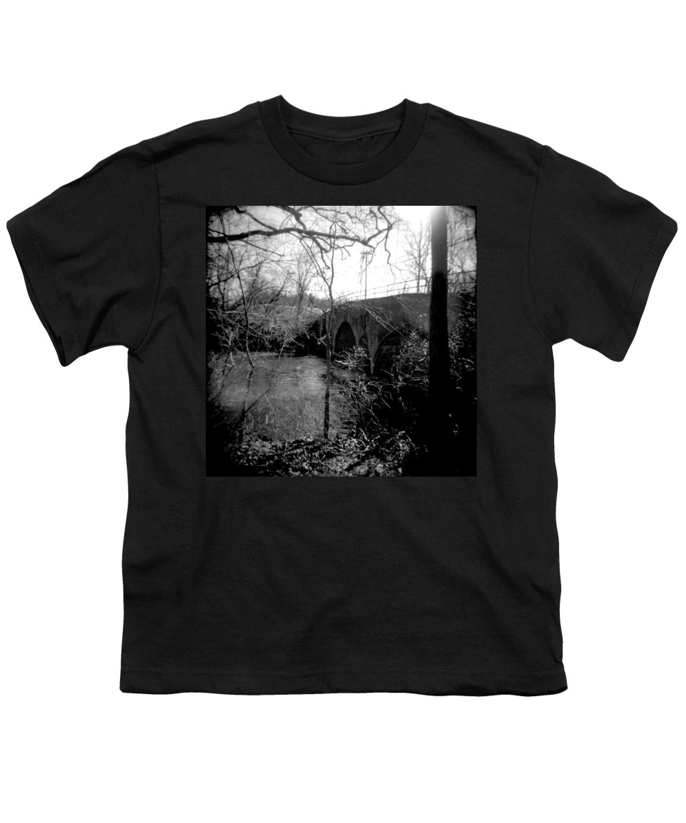 Photograph Youth T-Shirt featuring the photograph Boiling Springs Bridge by Jean Macaluso