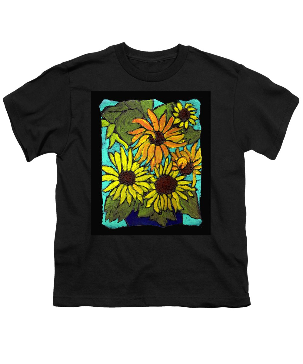 Flowers Youth T-Shirt featuring the painting Boquet Of Sunshine by Wayne Potrafka