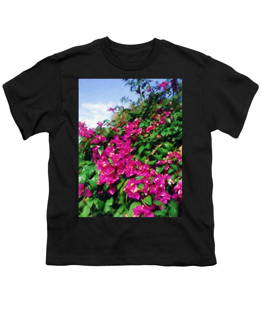 Bougainvillea Youth T-Shirt featuring the photograph Bougainvillea by Sandy MacGowan