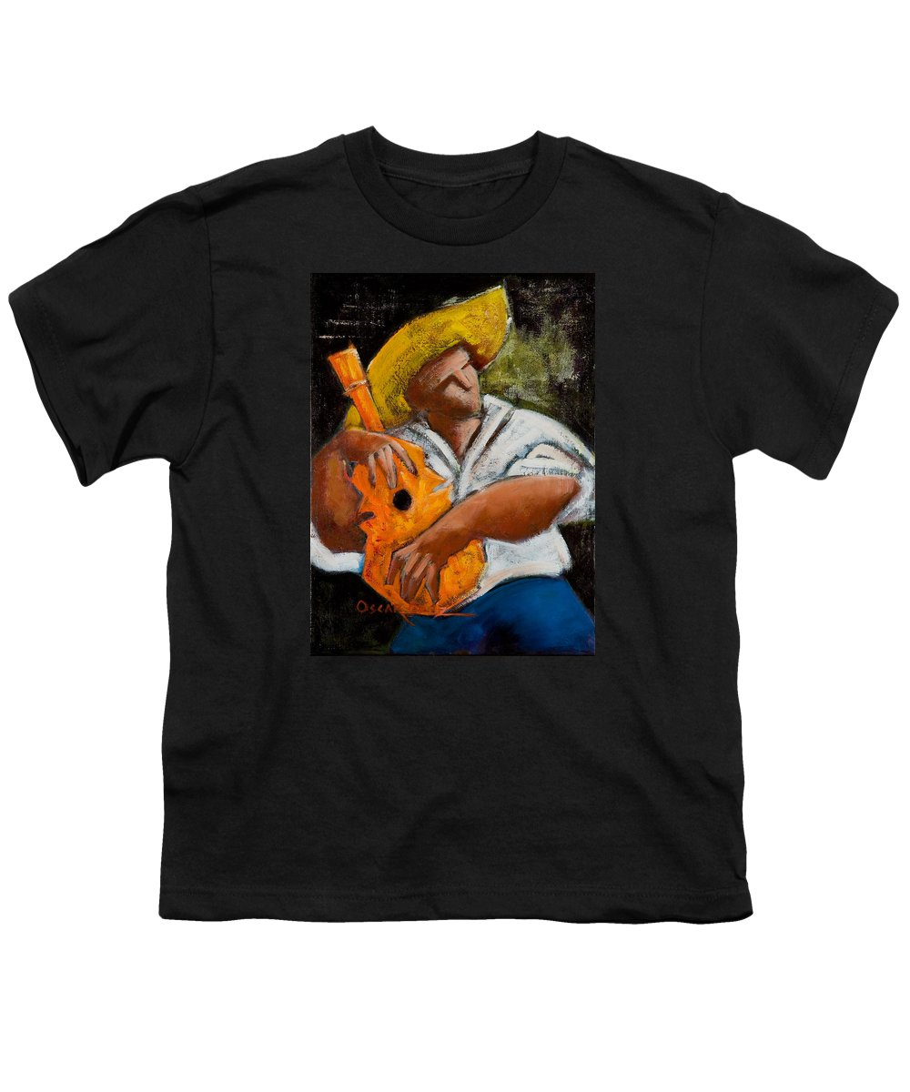 Puerto Rico Youth T-Shirt featuring the painting Bravado Alla Prima by Oscar Ortiz