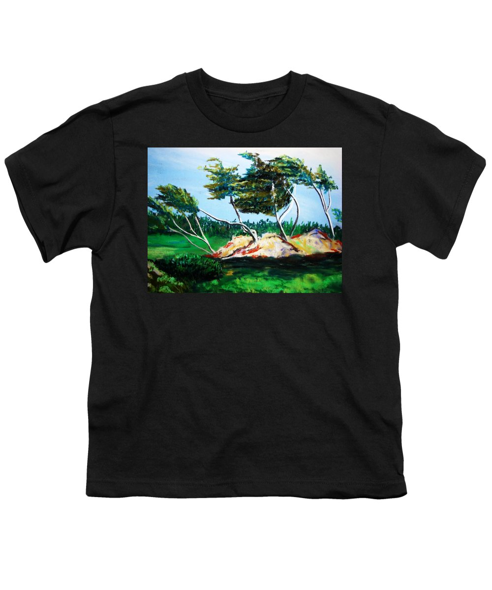 California Youth T-Shirt featuring the painting Breezy by Melinda Etzold