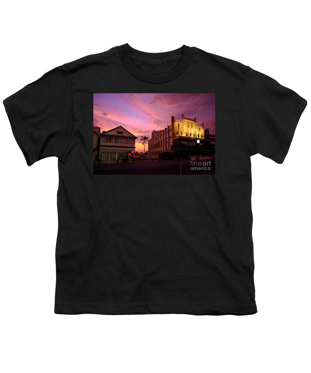 Evening Youth T-Shirt featuring the photograph Brewing Storm by Kerryn Madsen- Pietsch