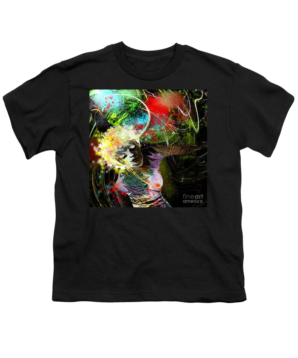 Fantasy Youth T-Shirt featuring the painting Bride Of Halos by Miki De Goodaboom