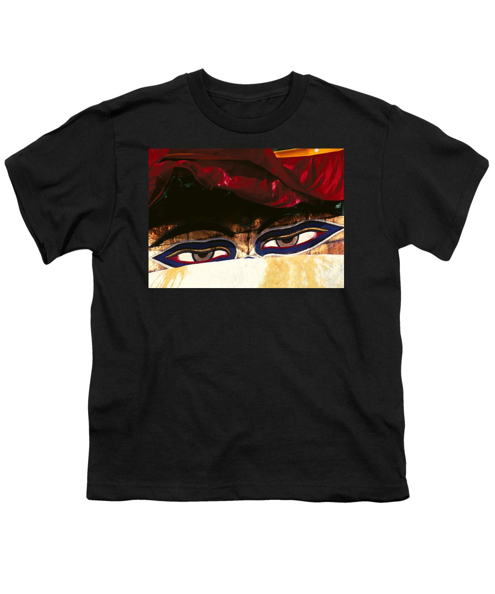 Eyes Youth T-Shirt featuring the photograph Buddha Eyes by Patrick Klauss