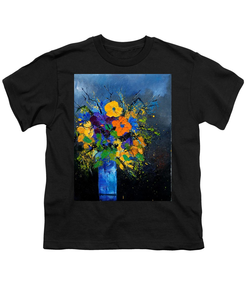 Poppies Youth T-Shirt featuring the painting Bunch 1007 by Pol Ledent