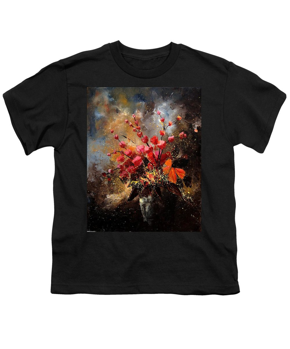 Poppies Youth T-Shirt featuring the painting Bunch 1207 by Pol Ledent