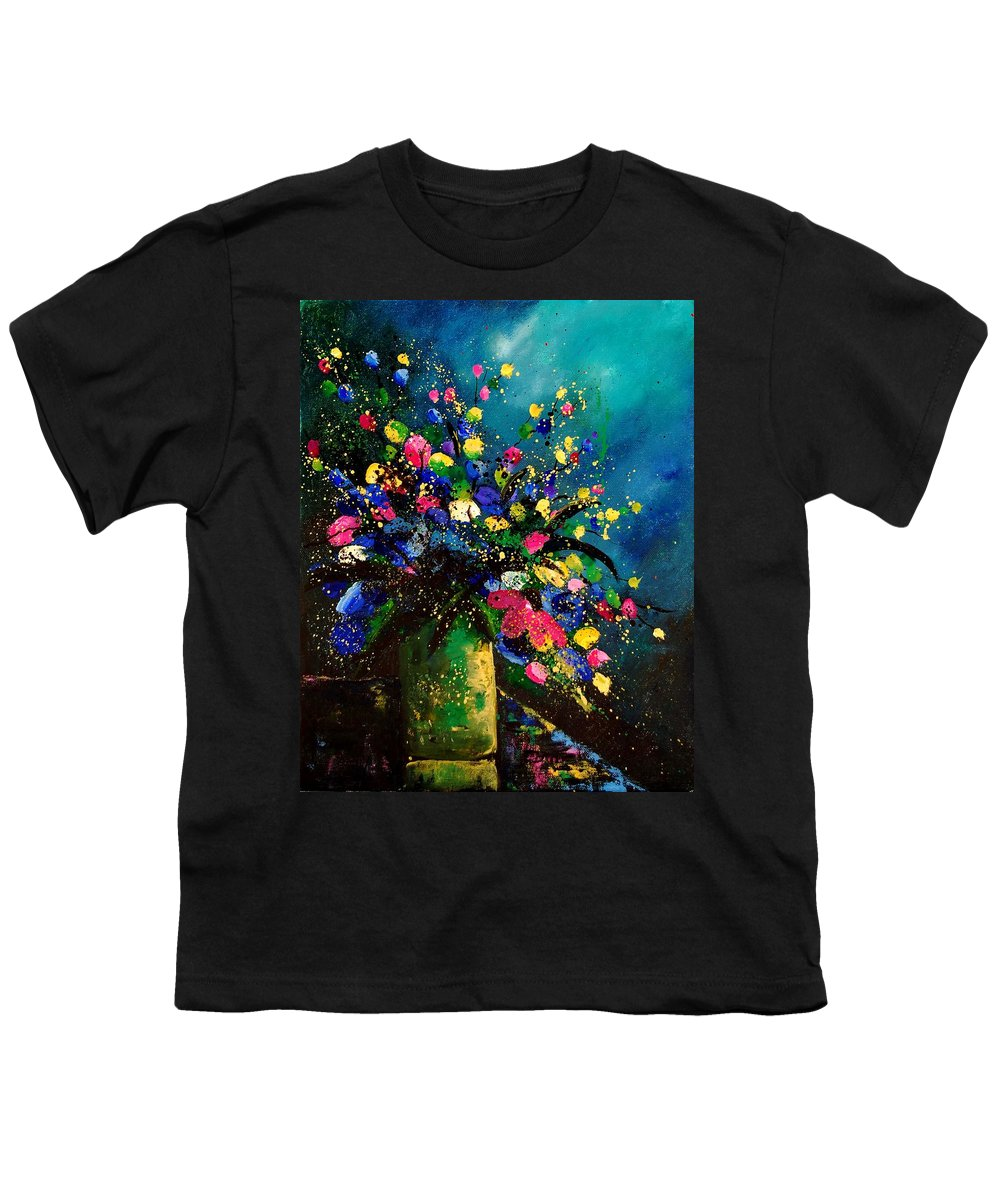 Poppies Youth T-Shirt featuring the painting Bunch 45 by Pol Ledent