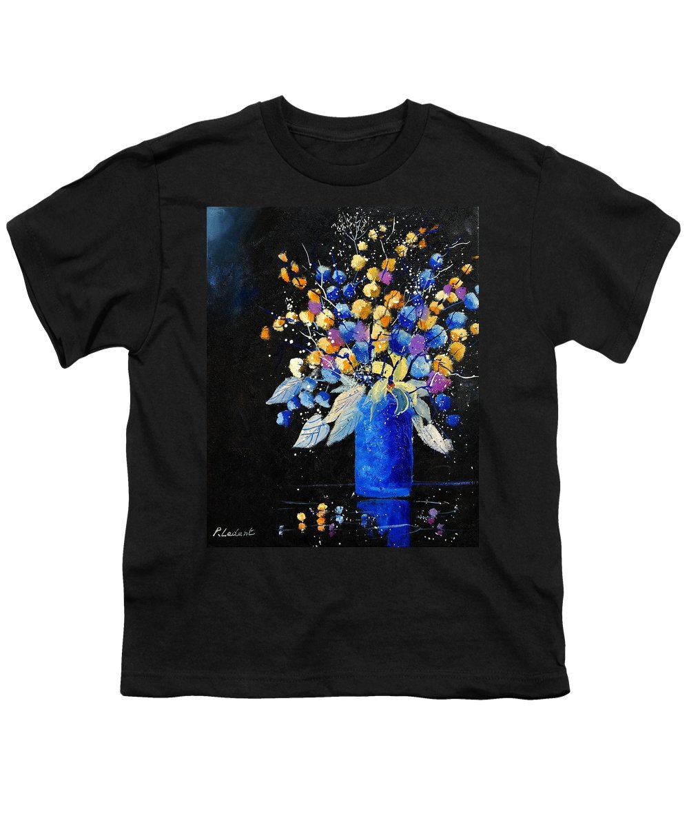 Flowers Youth T-Shirt featuring the painting Bunch 451008 by Pol Ledent