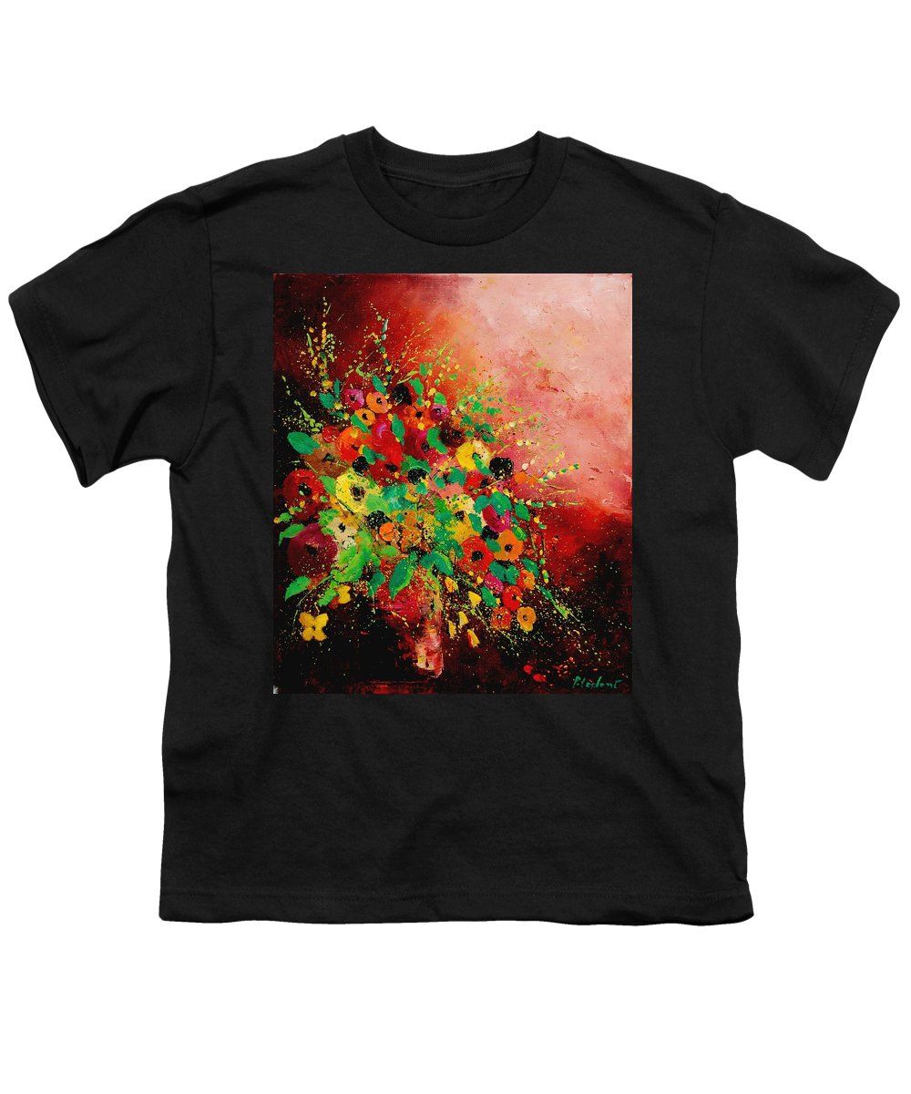 Flowers Youth T-Shirt featuring the painting Bunch Of Flowers 0507 by Pol Ledent