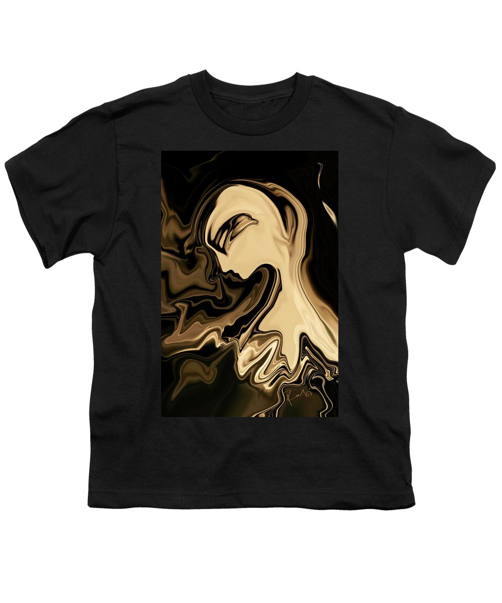 Abstract Youth T-Shirt featuring the digital art Butterfly Princess by Rabi Khan