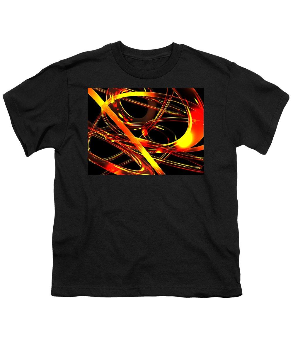 Scott Piers Youth T-Shirt featuring the digital art BWS by Scott Piers