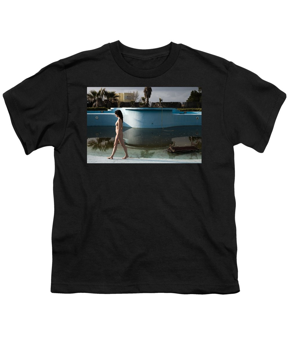 Nudes Youth T-Shirt featuring the photograph By The Old Pool by Olivier De Rycke