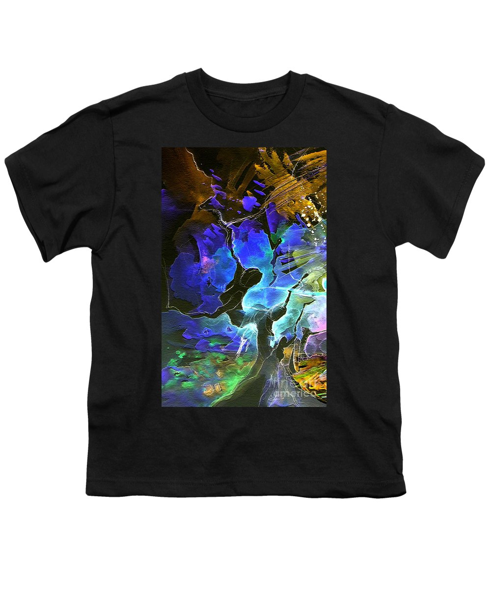 Miki Youth T-Shirt featuring the painting Bye by Miki De Goodaboom