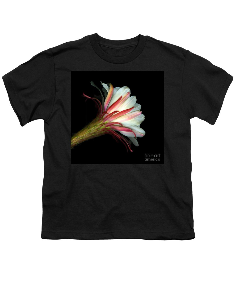 Scanart Youth T-Shirt featuring the photograph Cactus Flower by Christian Slanec