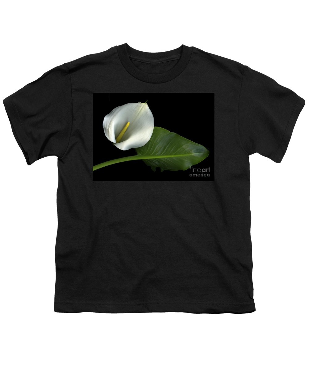 Scanography Youth T-Shirt featuring the photograph Calla Lily by Christian Slanec