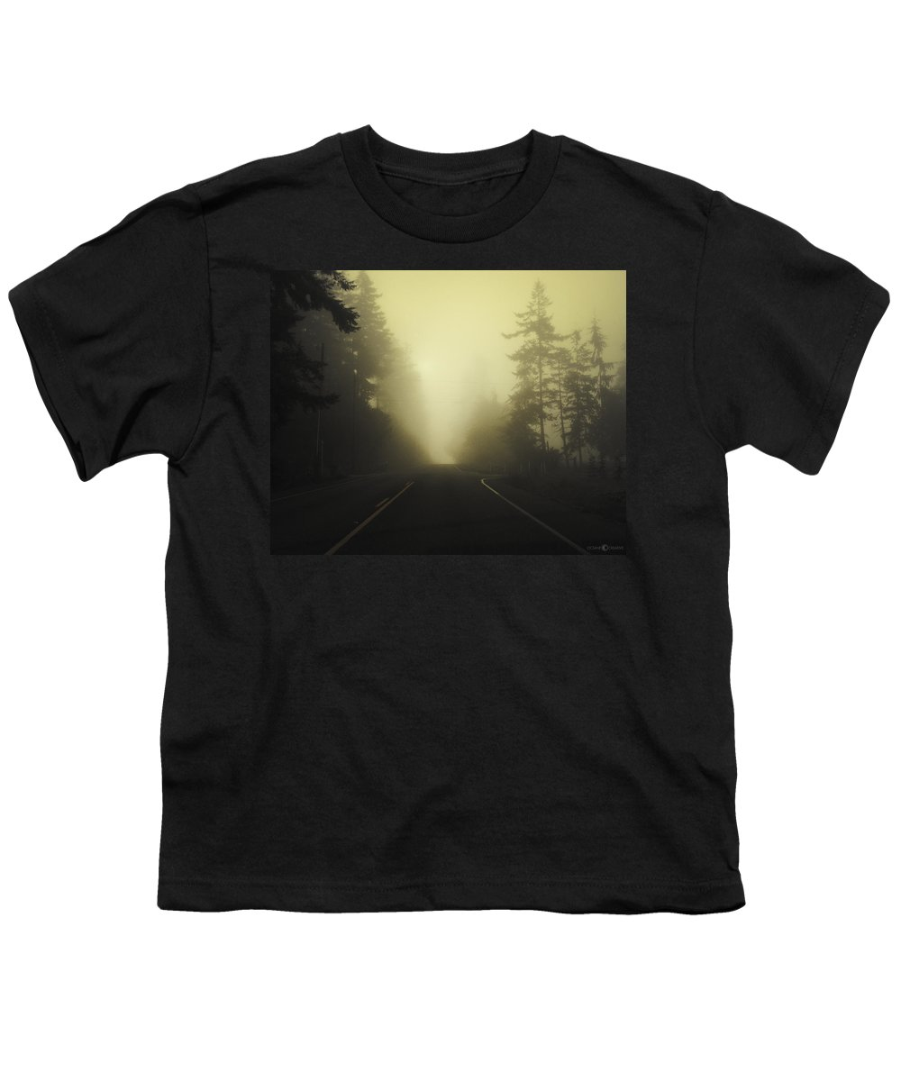Fog Youth T-Shirt featuring the photograph Camano Island Fog by Tim Nyberg