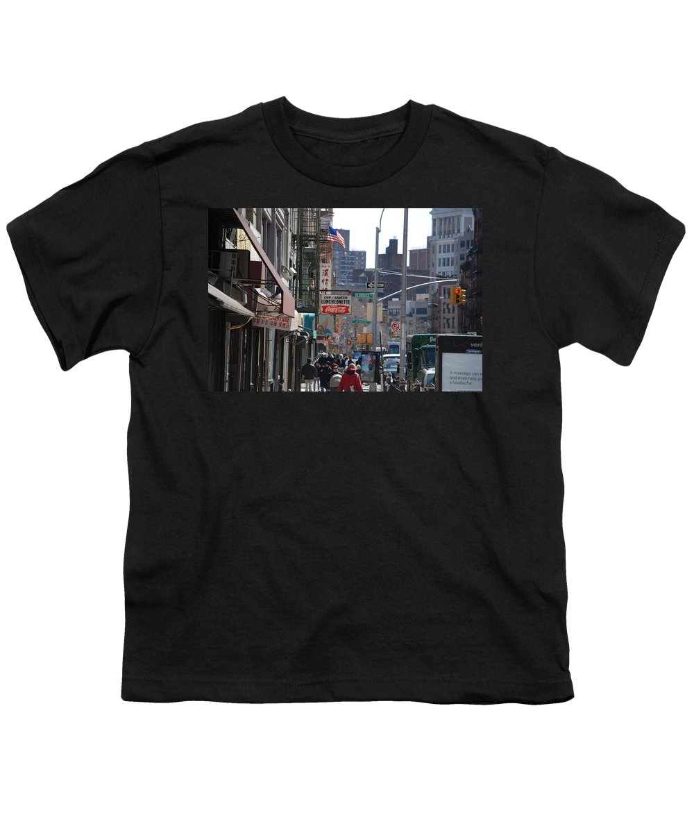 Architecture Youth T-Shirt featuring the photograph Canal And Eldridge by Rob Hans