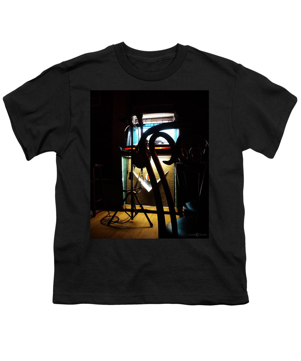 Music Youth T-Shirt featuring the photograph Canned Music by Tim Nyberg