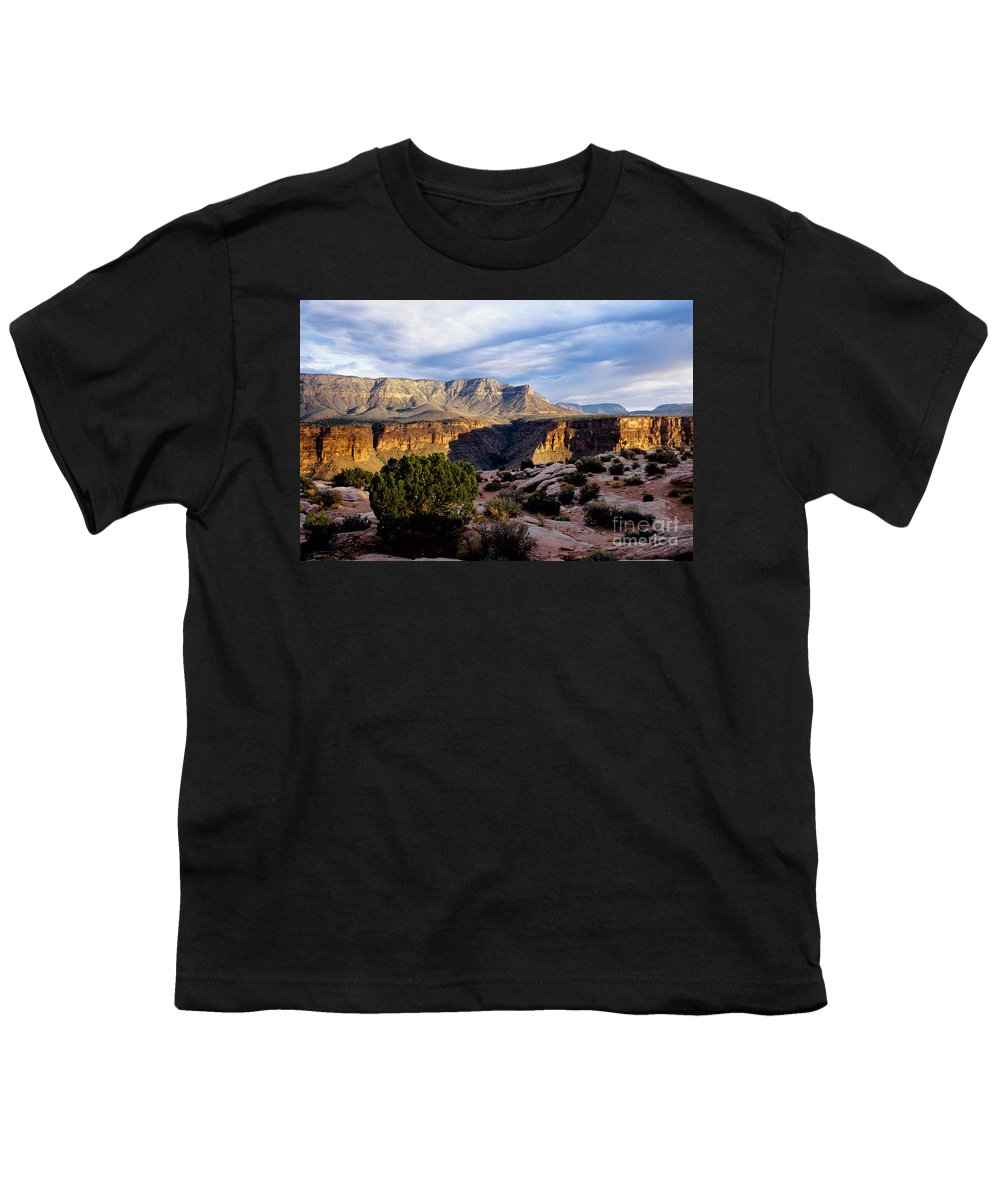 Toroweap Youth T-Shirt featuring the photograph Canyon Walls At Toroweap by Kathy McClure