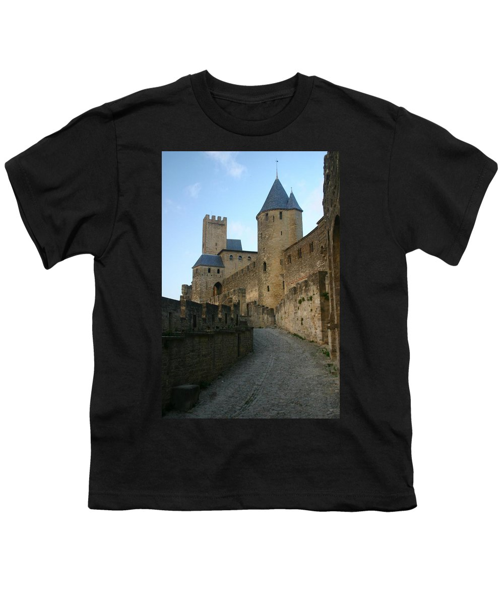 Castle Youth T-Shirt featuring the photograph Carcassonne Castle by Minaz Jantz