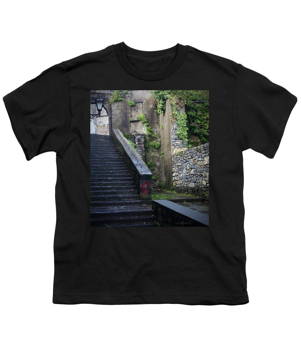 Stairs Youth T-Shirt featuring the photograph Cathedral Stairs by Tim Nyberg