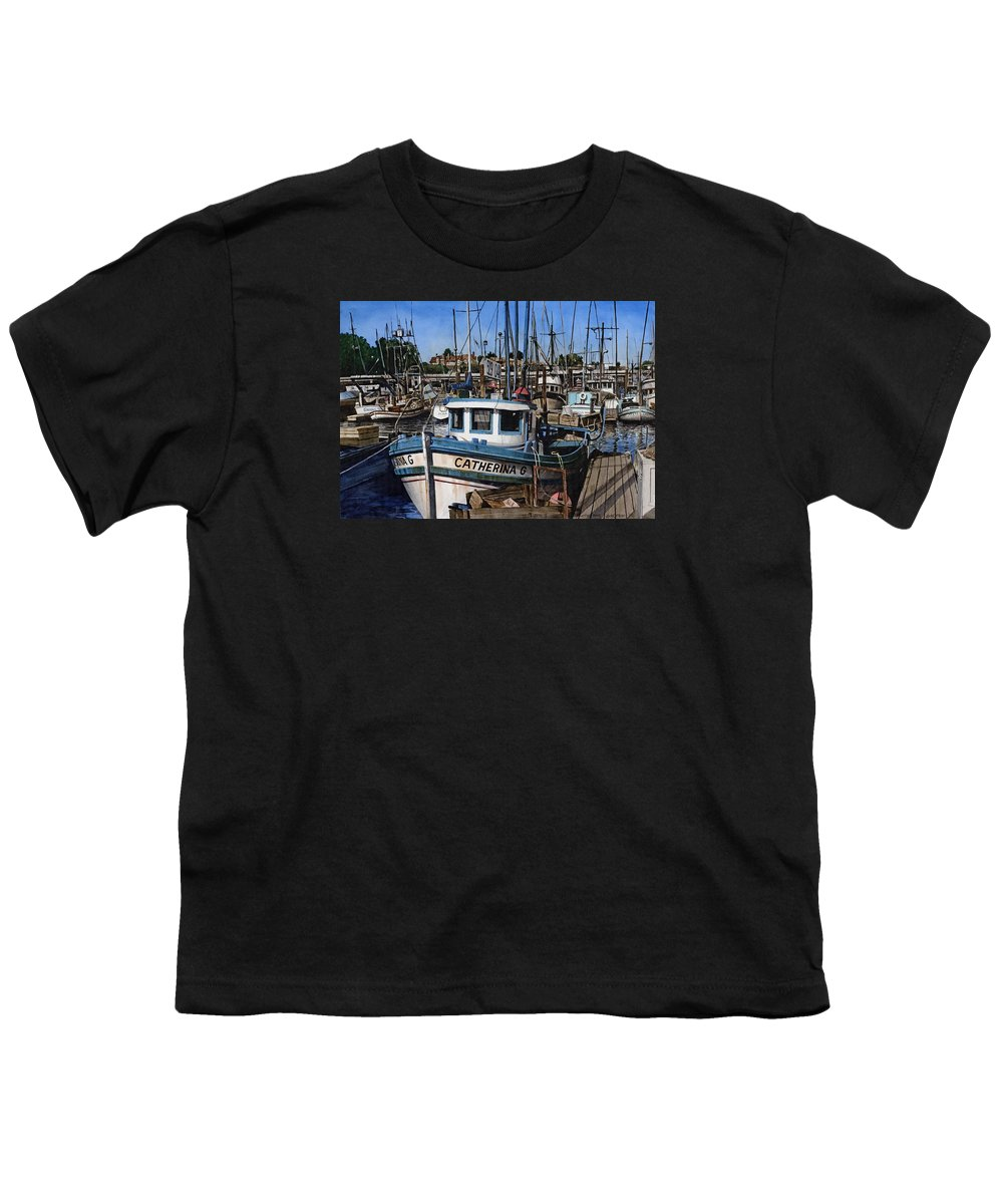 Transportation Youth T-Shirt featuring the painting Catherina G by James Robertson