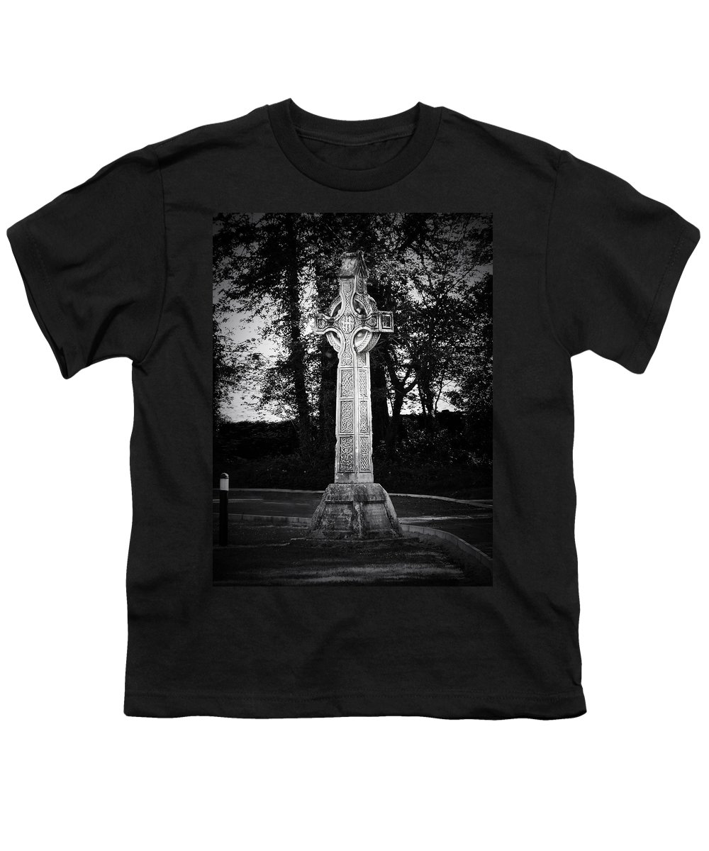Irish Youth T-Shirt featuring the photograph Celtic Cross In Killarney Ireland by Teresa Mucha