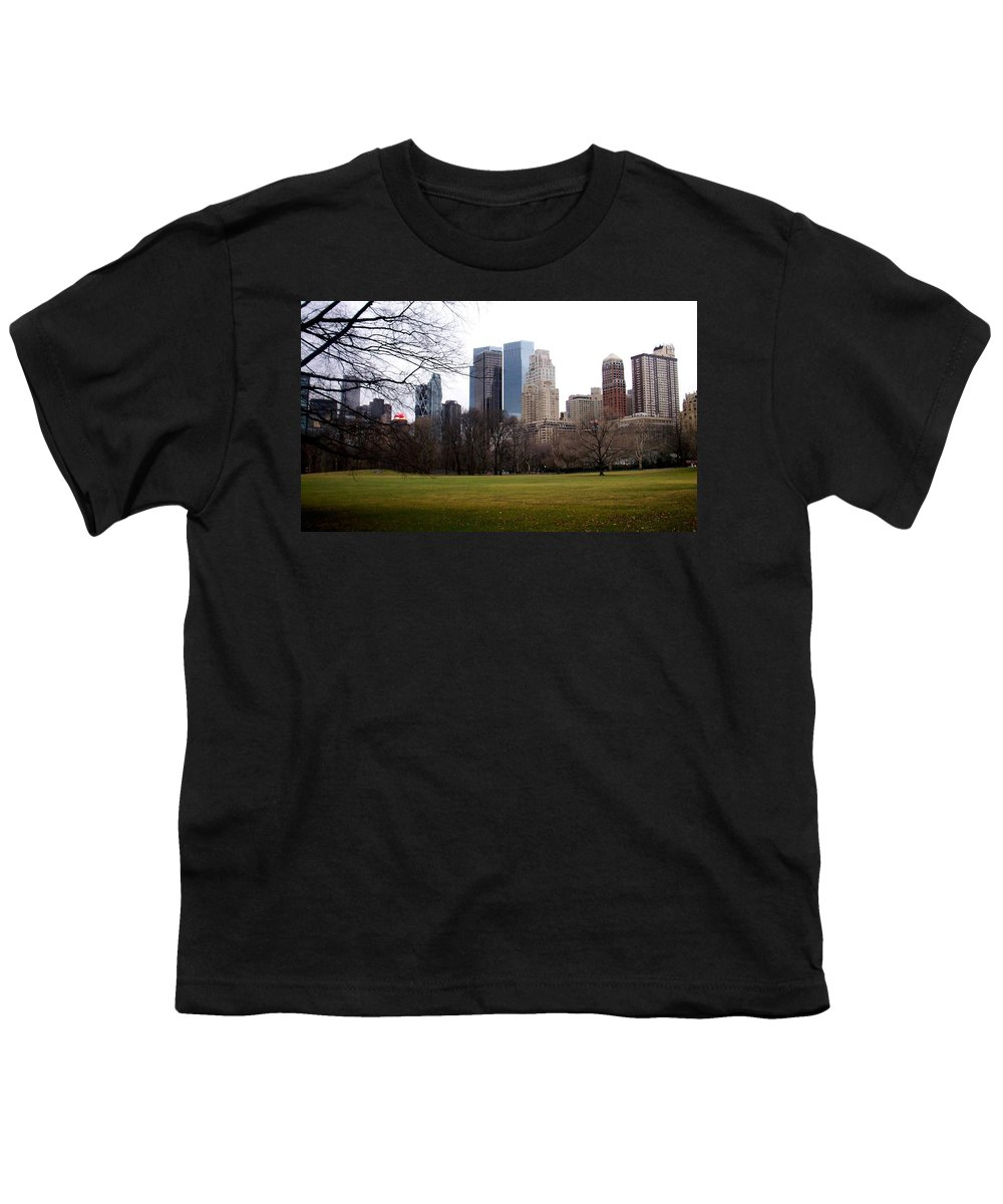 Central Park Youth T-Shirt featuring the photograph Central Park by Anita Burgermeister