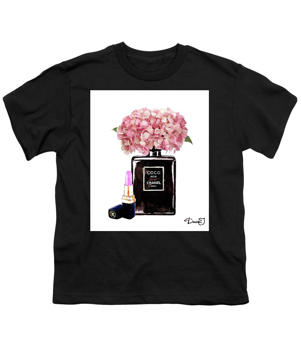 8e84dfb0f Chanel Perfume With Pink Hydragenia 2 Youth T-Shirt for Sale by Del Art