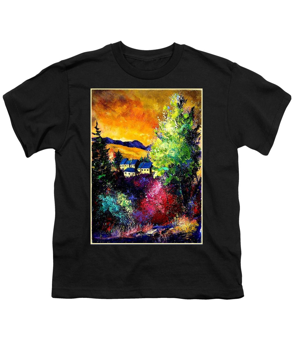 Landscape Youth T-Shirt featuring the painting Charnoy by Pol Ledent