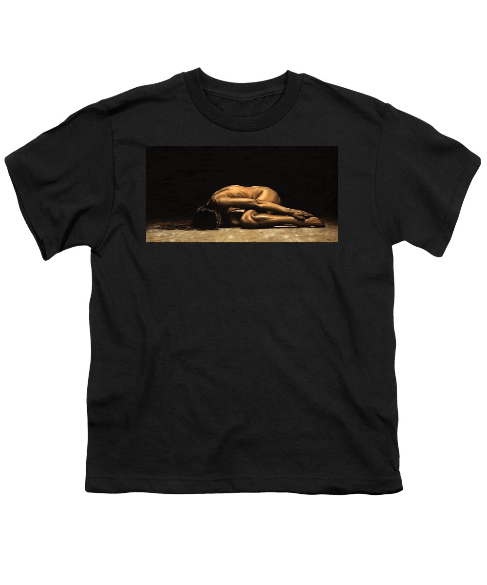 Nude Youth T-Shirt featuring the painting Chastity by Richard Young