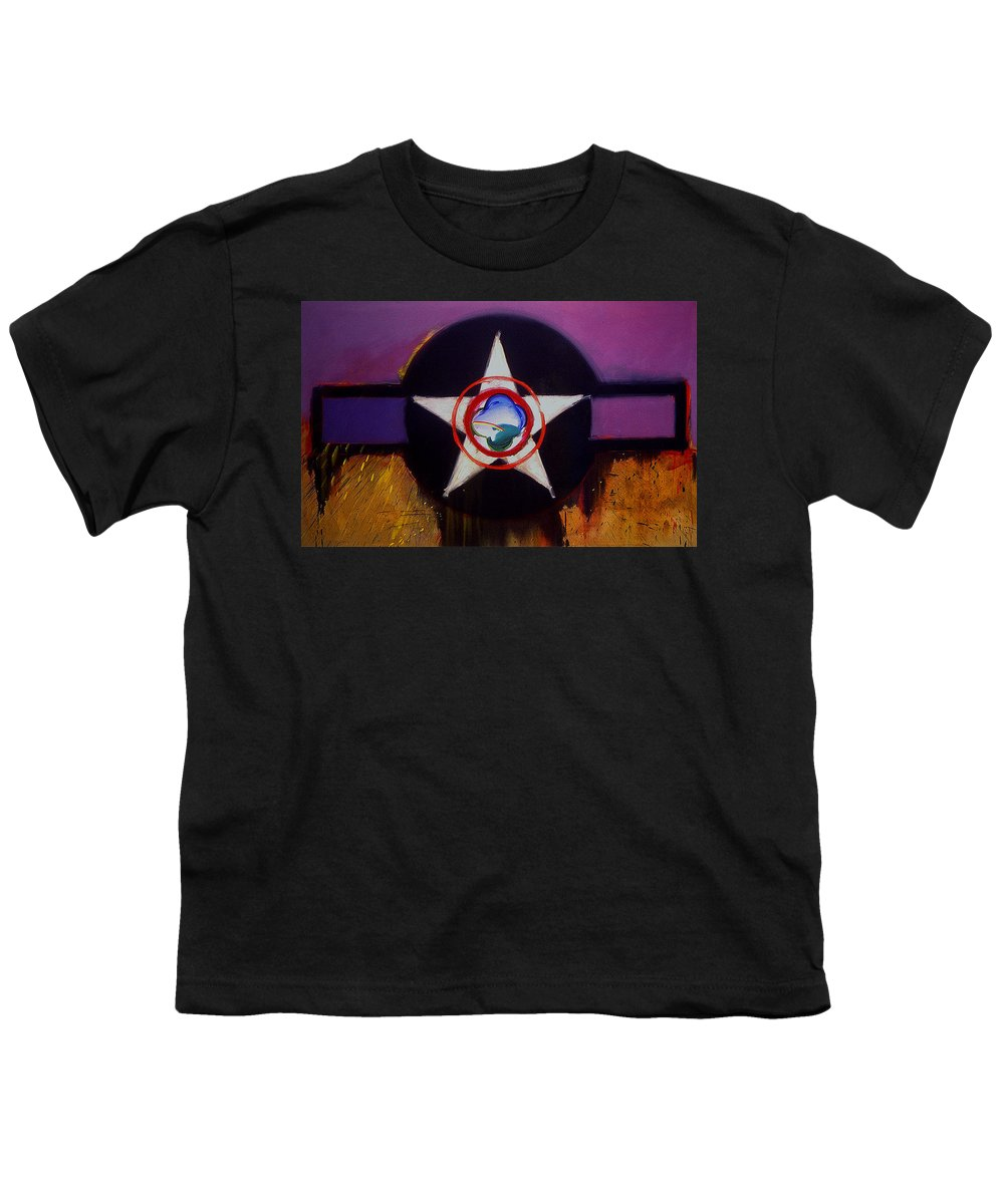 Air Force Insignia Youth T-Shirt featuring the painting Cheyenne Autumn by Charles Stuart