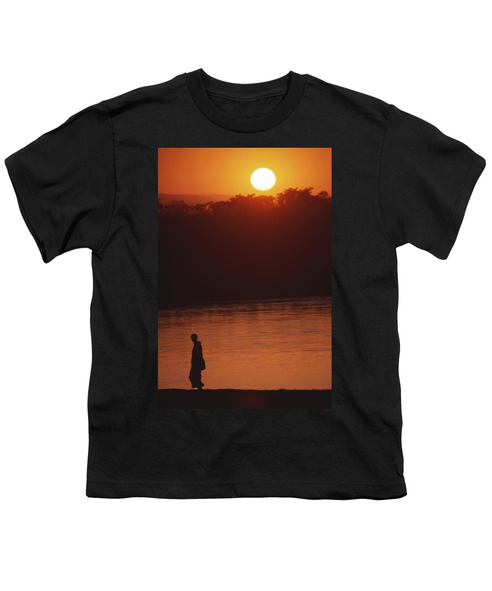 Sunset Youth T-Shirt featuring the photograph Chitwan Sunset by Patrick Klauss