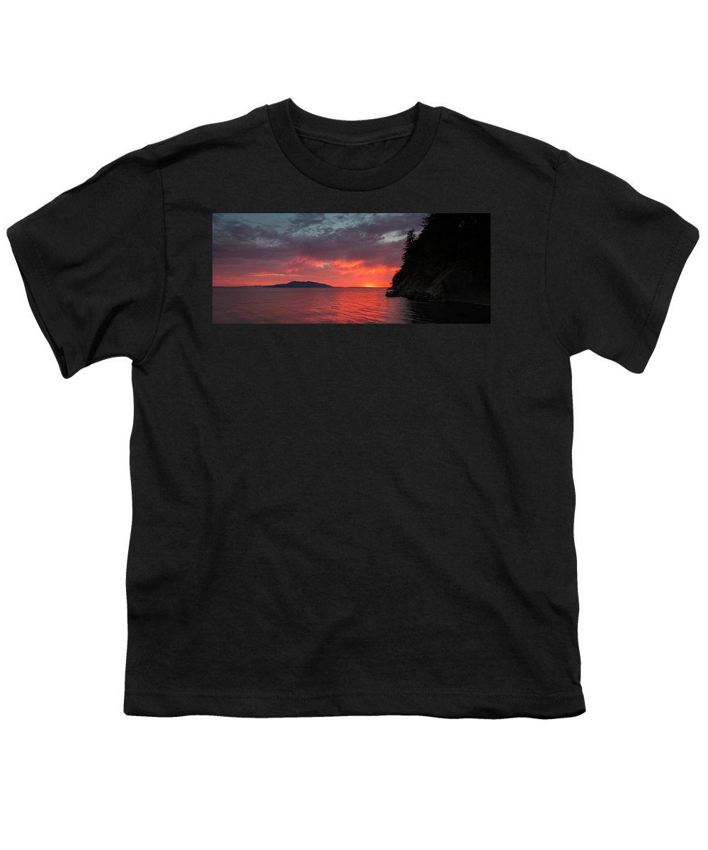 Bellingham Youth T-Shirt featuring the photograph Chuckanut Bay Panorama by Ryan McGinnis