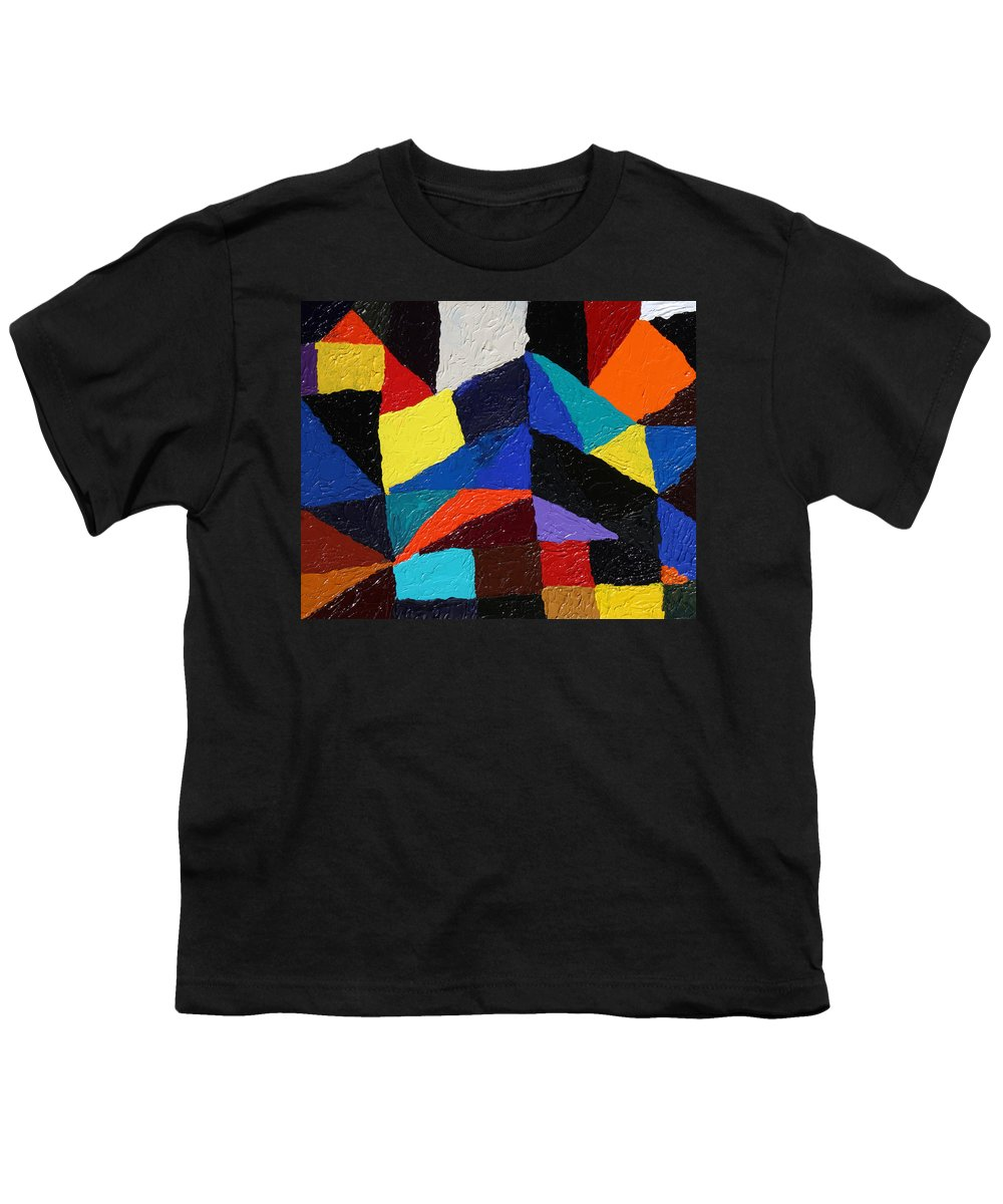 Fusionart Youth T-Shirt featuring the painting Cityscape by Ralph White