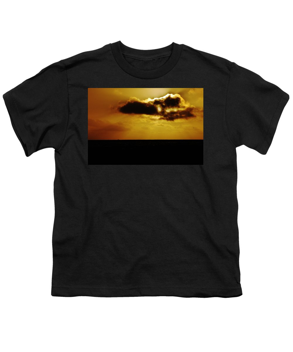 Clay Youth T-Shirt featuring the photograph Clouds Over The Ocean by Clayton Bruster