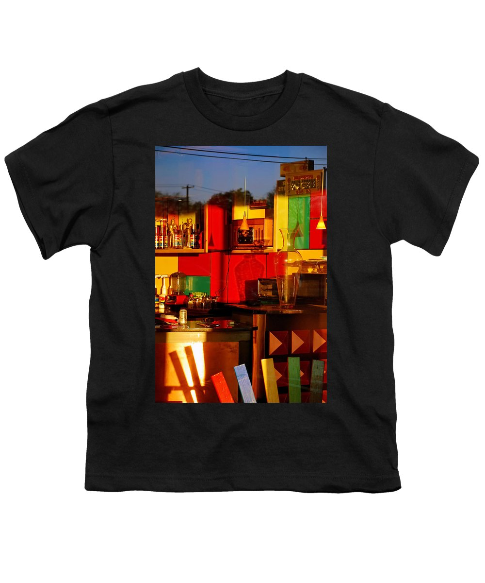 Skip Hunt Youth T-Shirt featuring the photograph Coffee Shop by Skip Hunt