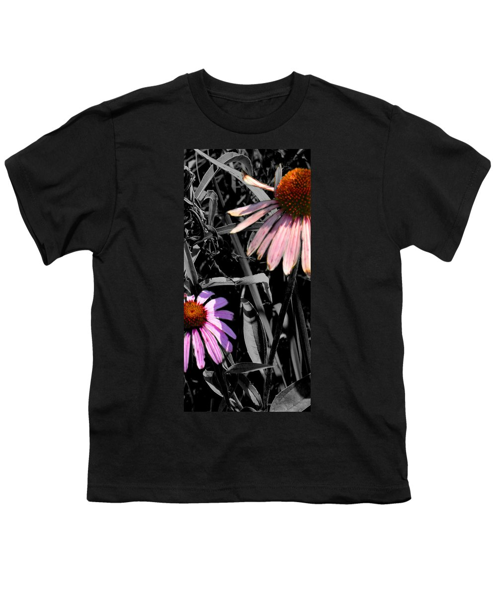 Purple Cone Flower Youth T-Shirt featuring the photograph Cone Flower Tapestry by Steve Karol
